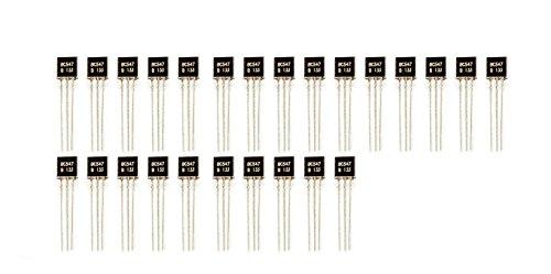 MissBirdler 25Stück BC547 TO-92 NPN 45V 0.1A Transistor für Arduino Raspberry Pi Prototyping
