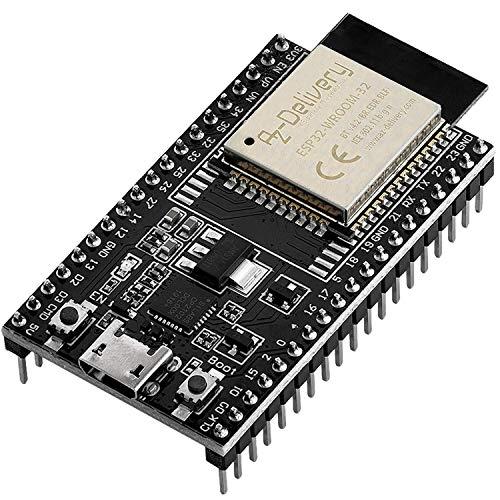 AZDelivery ESP32 Dev Kit C V4 NodeMCU WLAN WiFi Development Board kompatibel mit Arduino inklusive E-Book! (Nachfolger Modul von ESP32 Dev Kit C V2)
