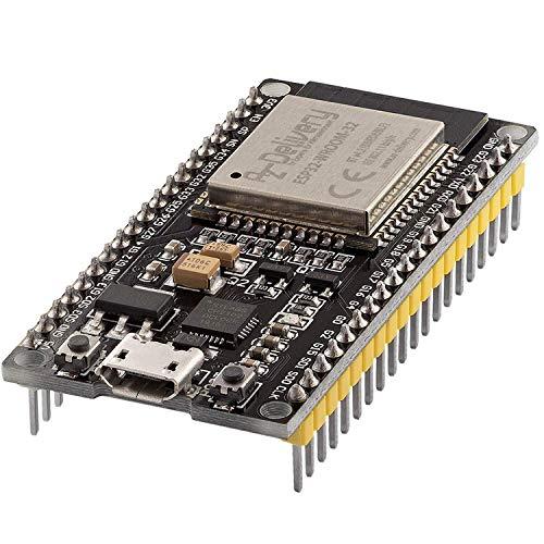 AZDelivery ESP32 NodeMCU Module WLAN WiFi Dev Kit C Development Board mit CP2102 (Nachfolgermodell zum ESP8266) kompatibel mit Arduino und inklusive E-Book!