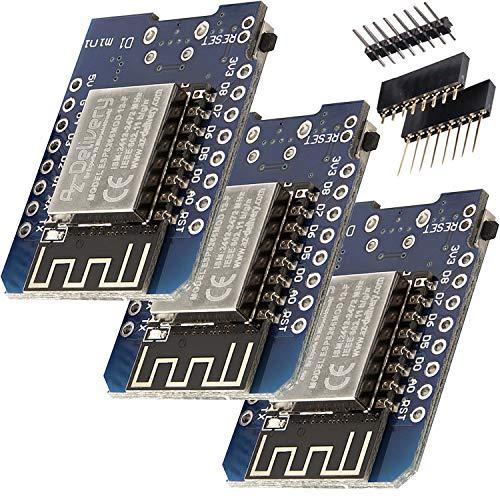 AZDelivery 3 x D1 Mini NodeMcu mit ESP8266-12F WLAN Module für Arduino inklusive E-Book!