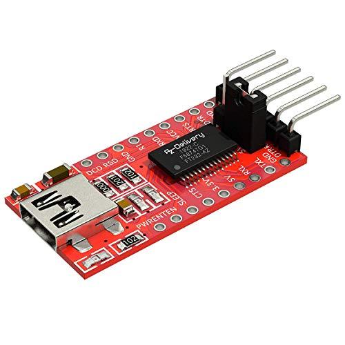 AZDelivery FT232RL USB zu TTL Serial Adapter für 3,3V und 5V kompatibel mit Arduino inklusive E-Book!