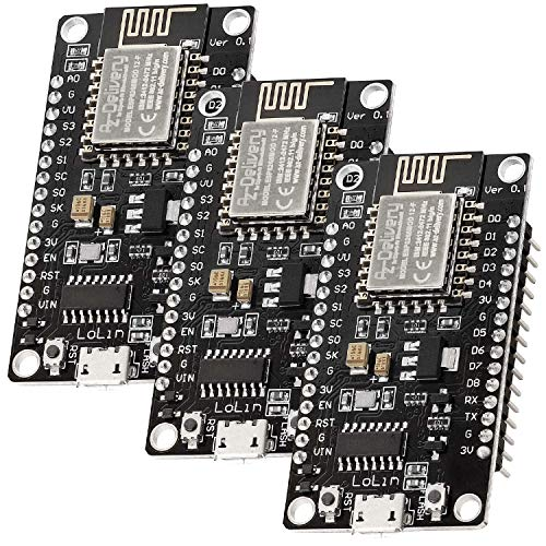 AZDelivery 3 x NodeMCU Lolin V3 Module ESP8266 ESP-12F WiFi WiFi Development Board mit CH340 kompatibel mit Arduino inklusive E-Book!