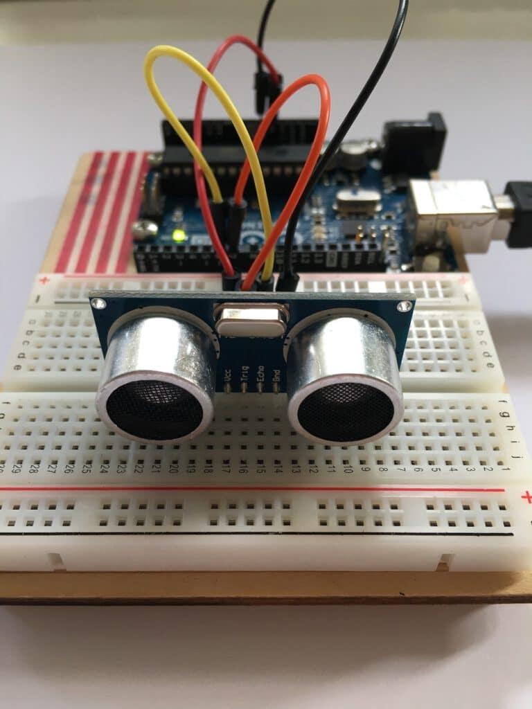 Ultrashallsensor HC SR04 am Arduino