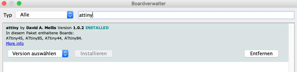Boardverwalter attiny