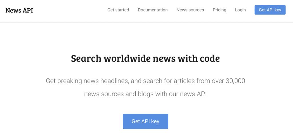 Webseite News API