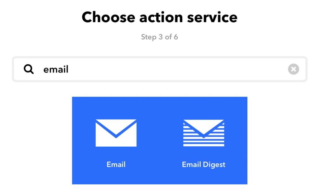 E-Mail auf IFTTT