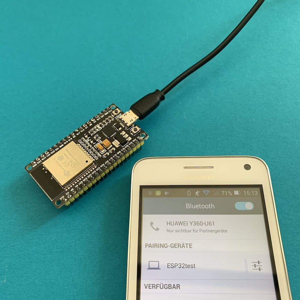 Pairing ESP32 with your smartphone