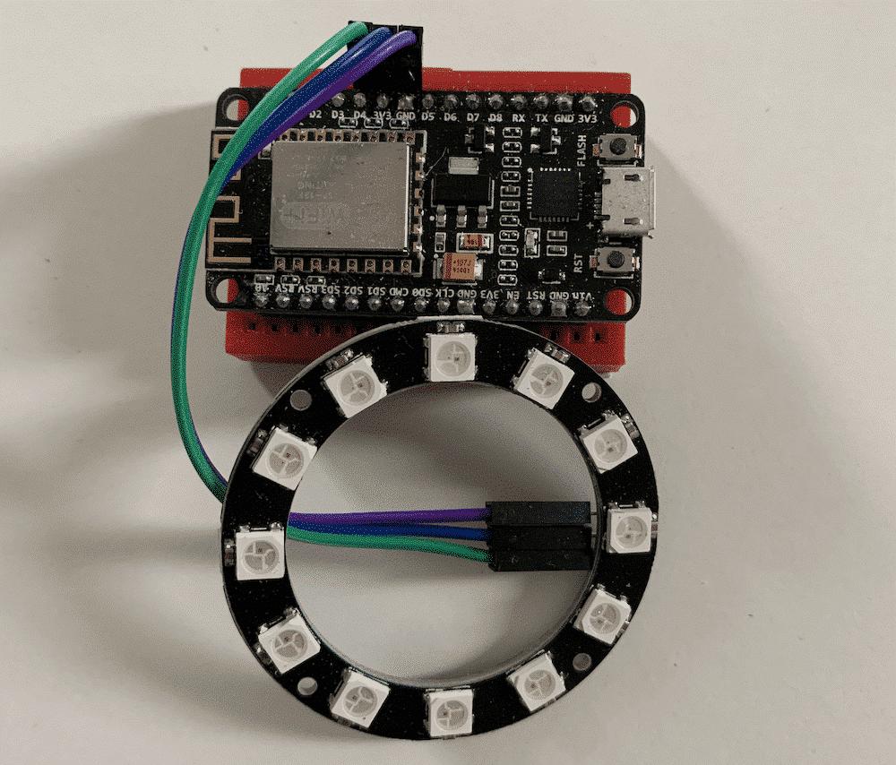 LED Ring angeschlossen am ESP8266