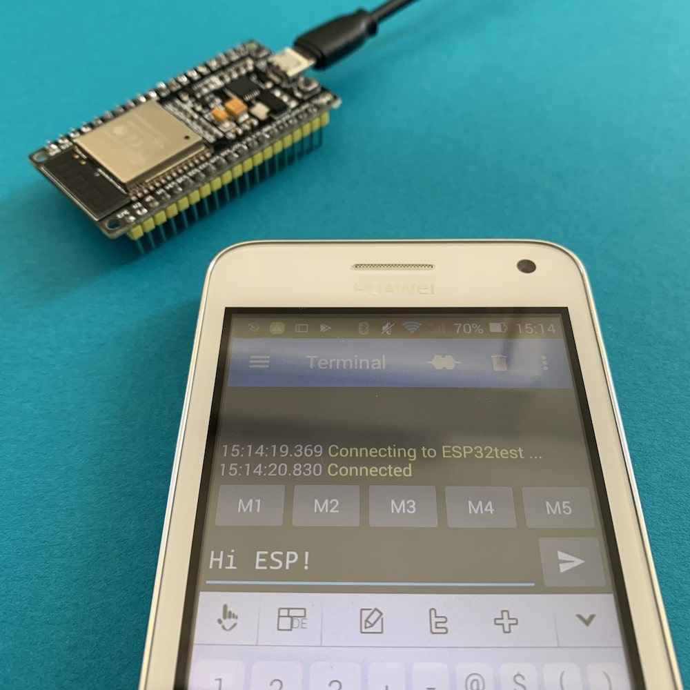 Send message to an ESP32