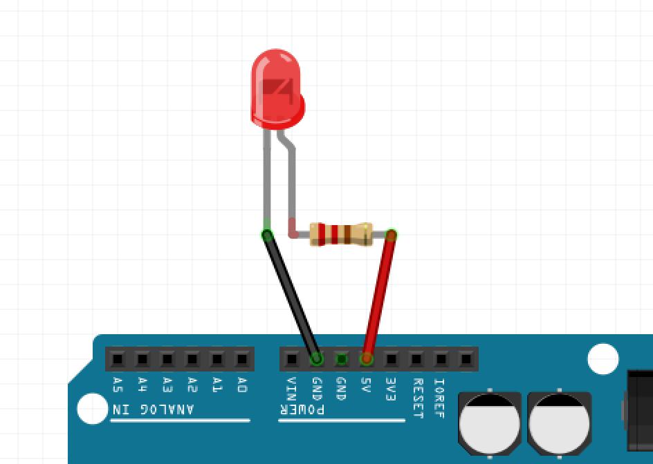 Eine LED am Arduino UNO