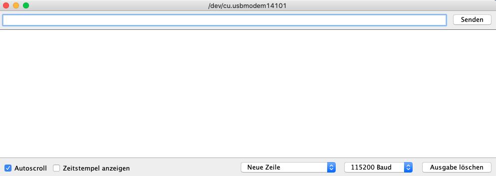 Arduino IDE Serieller Monitor