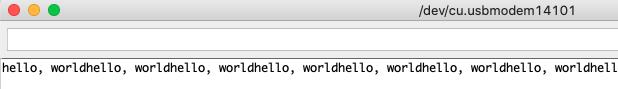 hello world hintereinander