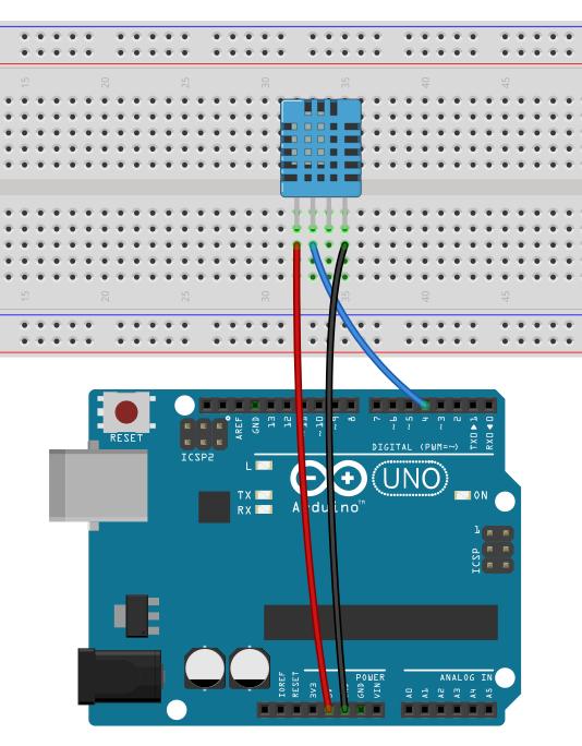 Anschluss DHT11 am Arduino